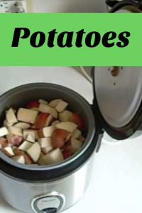 Ricecooker Potatoes