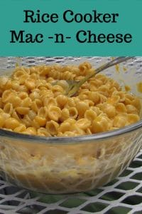 Rice Cooker Mac n Cheese